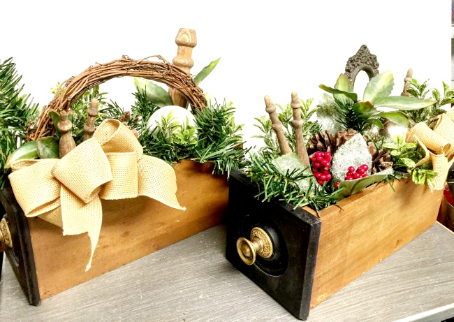 Sewing Machine Drawer Christmas Centerpieces