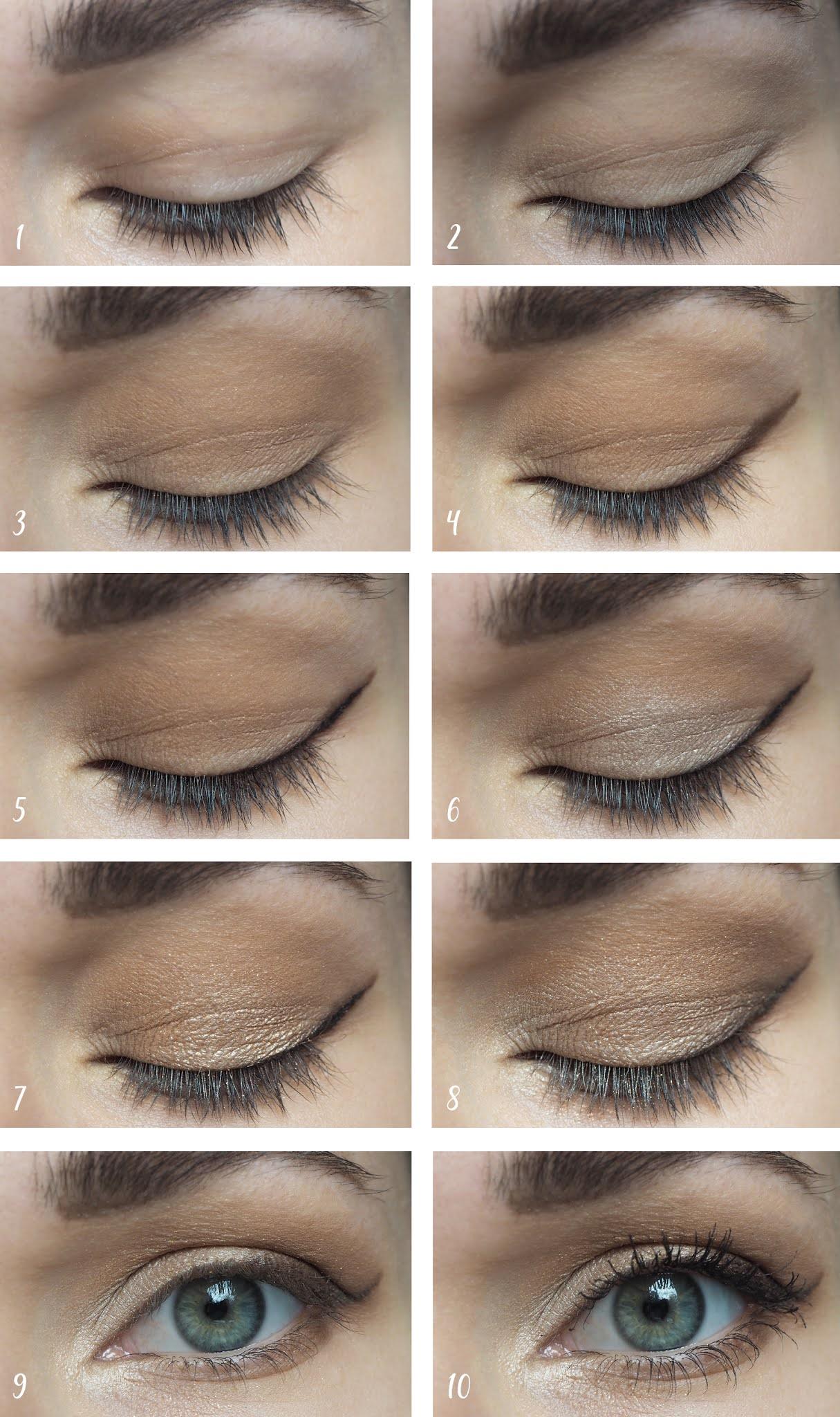 Augen-Make-Up für Hochzeitstag Schritt-für-Schritt