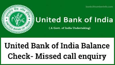 United Bank of India Balance Check