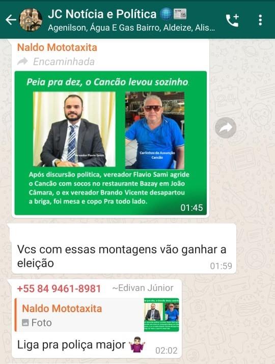 Repercute nas redes sociais uma confusão entre o vereador Flavio Sami e Carlos Miranda (Cancão)