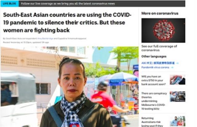 Sejumlah negara-negara di Asia Tenggara dituding telah memanfaatkan pandemi COVID-19 untuk mengekang kebebasan berbicara. Penahanan suami Sok Bolima di Kamboja merupakan contoh terbaru.