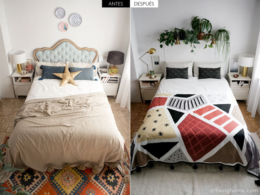 Decorar la cama con cojines s o no blog decoraci n - Cojines grandes para cama ...
