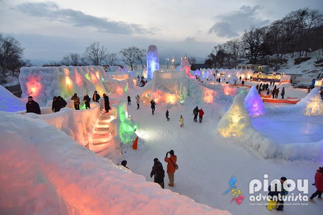 LAKE SHIKOTSU CHITOSE HOKKAIDO ICE FESTIVAL NIGHT ILLUMINATION