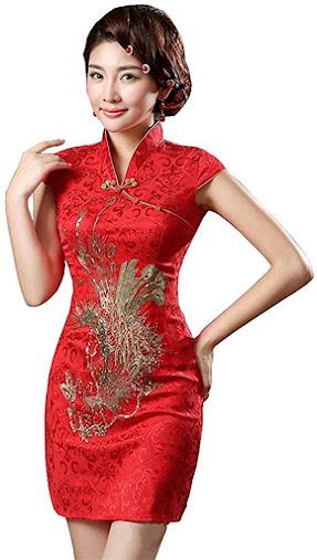 Women's Red Cheongsam Qipao Dresses