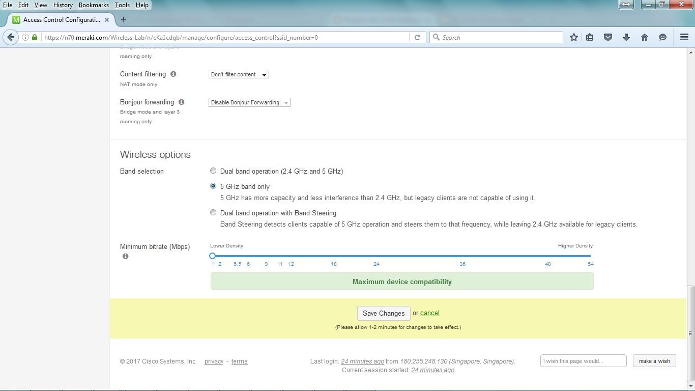 My CCNA Wireless Journal: Meraki Dashboard SSID Access