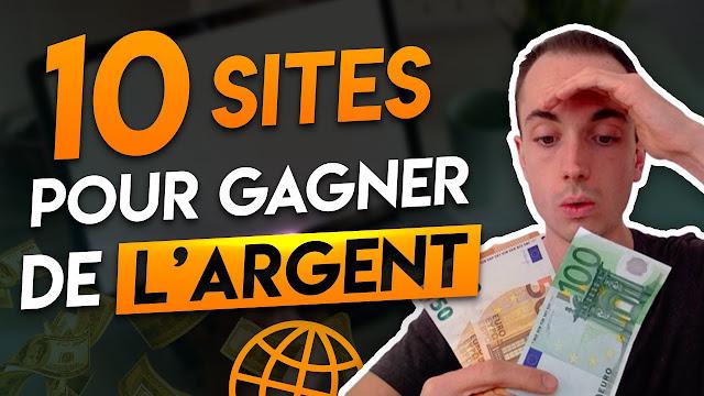 10 site pour gagner argent