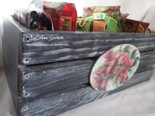 Декупаж и декор ящика для специй