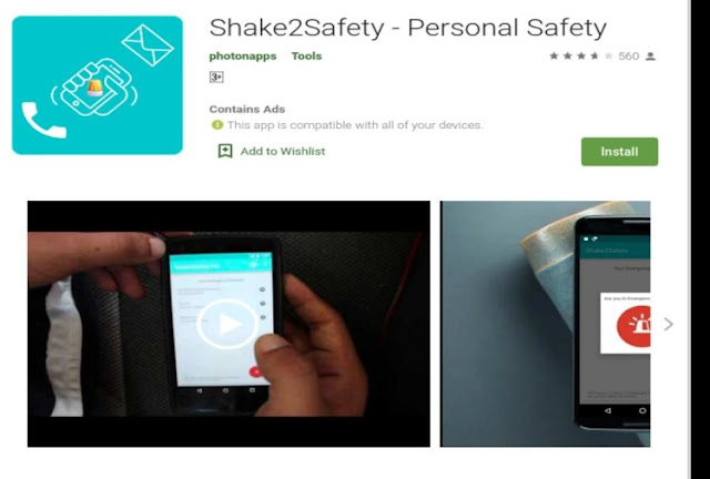 Shake To Safety App