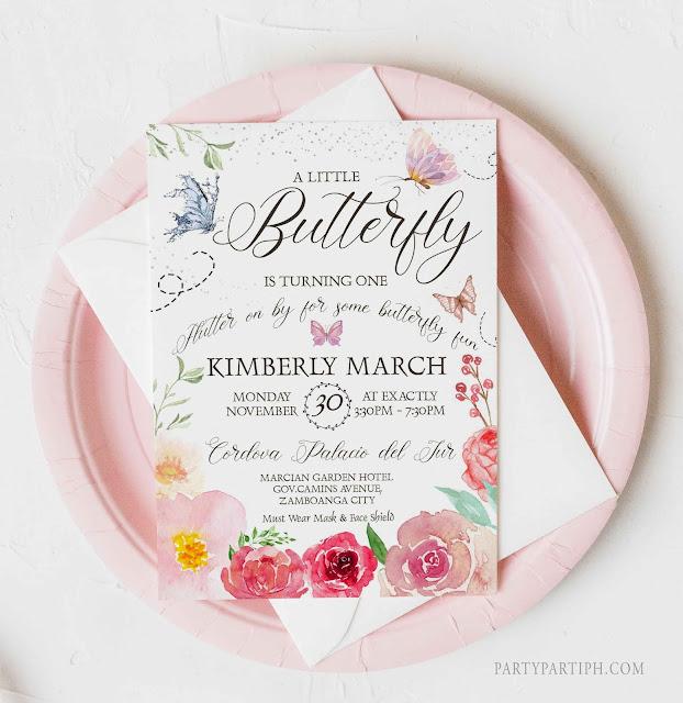 butterfly birthday invitation