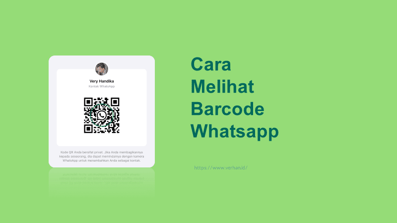 cara melihat kode qr whatsapp di hp sendiri