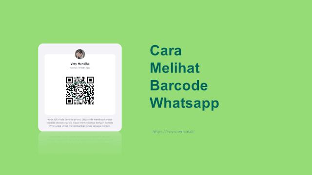 cara melihat kode qr whatsapp akun sendiri