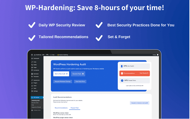 Astra  - WP 2BHardening 2B8 2Bhours - WP Hardening – A Free WordPress Security Plugin for Security Audit