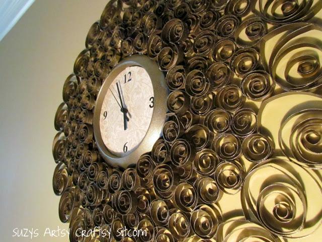 decora relojes espejos y flores con esta linda tcnica reciclando rollos de papel higinico with rollos de papel higienico decorados