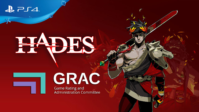 hades ps4 leak korean rating committee supergiant games epic store rogue-like dungeon crawler game