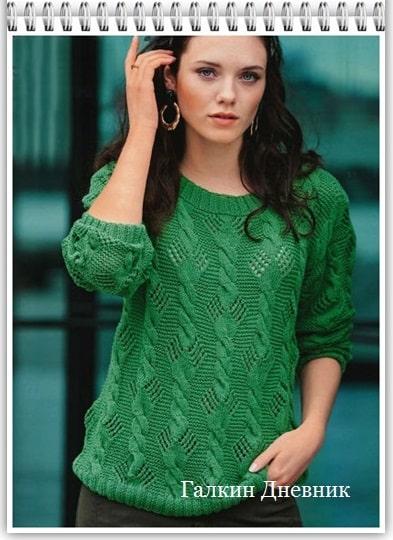 jenskii-pulover-spicami | knitting-pullover | pulover-prutkamі | pulover-spicyami | strickpullover