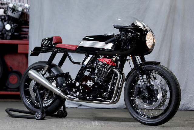 Honda NX650 By MecaServices92 Hell Kustom