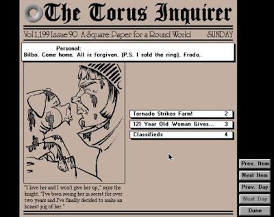 Uno de los periódicos del juego