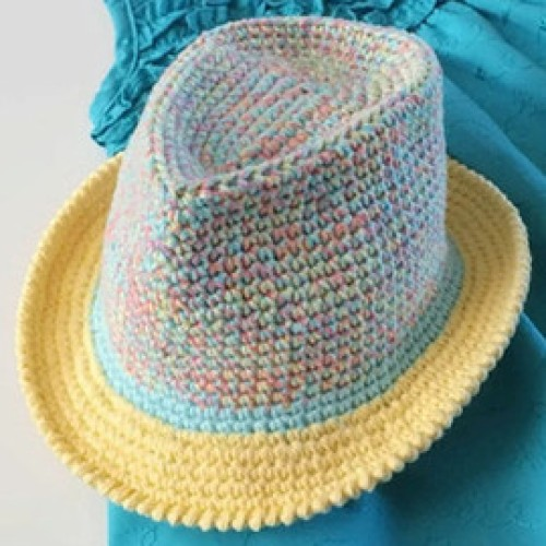 Crochet Fedora Hat - Tutorial