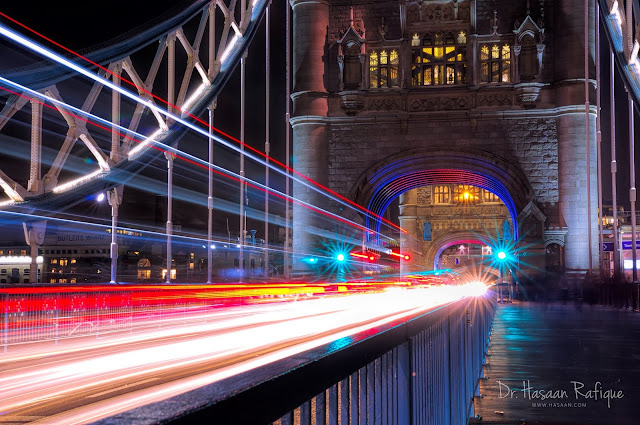 Photo: Tower Bridge and Light Trails