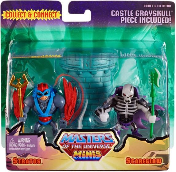 Masters of the Universe Minis 2 Pack #3 in Packaging by Mattel - Stratos & Scareglow