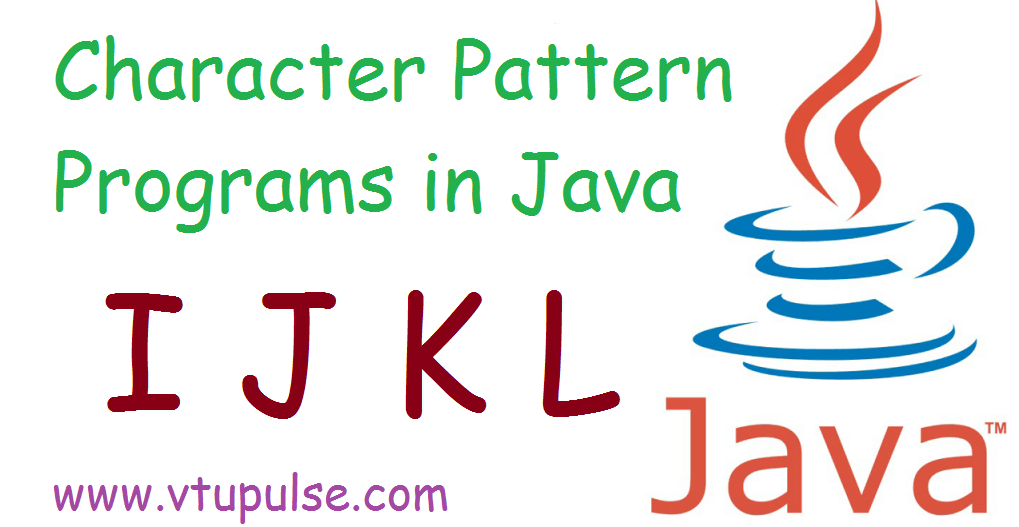 A to Z character pattern programs in java part 3