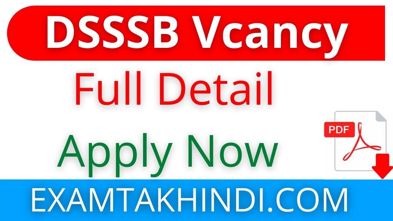 DSSSB 7236 Posts Recruitment