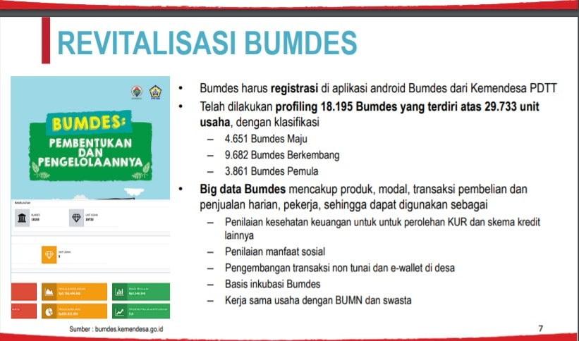 Bumdes harus registrasi di aplikasi android Bumdes dari Kemendesa PDTT Revitalisasi Badan Usaha Milik Desa (BUMDes)
