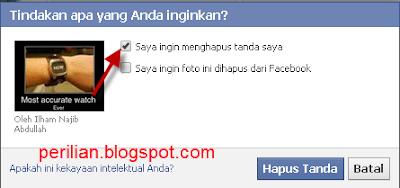Cara Menghapus Foto Ditandai/Tidak Ditandai di Facebook