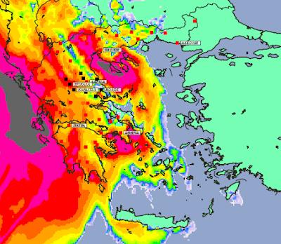 5 - Συννεφιές και βροχές την Δευτέρα και Τετάρτη σε μεγάλο μέρος της χώρας (+XAΡΤΕΣ ΥΕΤΟΥ)