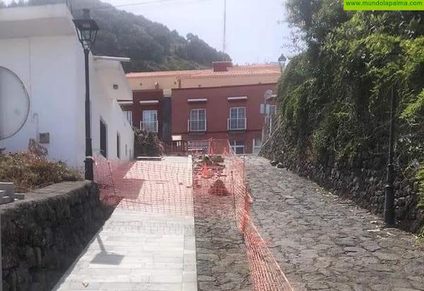 CC en Villa de Mazo pide que se paralicen las obras en las calzadas y se inicie el expediente para declararlas Bien de Interés Cultural