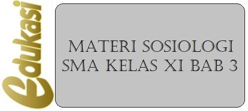 Materi Sosiologi SMA Kelas XI BAB 3