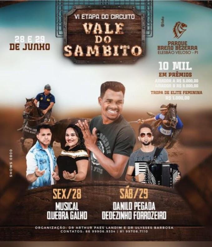 VI Etapa do circuito Vale do Sambito ocorrerá no final deste mês em Elesbão Veloso