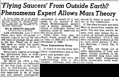 'Flying Saucers' From Outside earth - Oregonian (Portland, OR) 7-9-1947