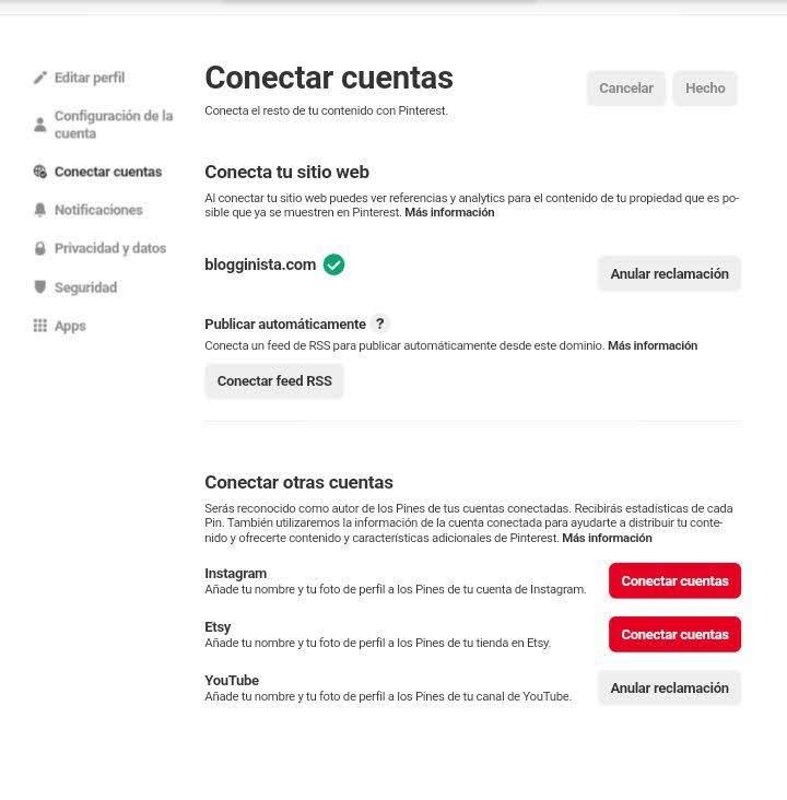 Añadir feed RSS de tu blog a Pinterest