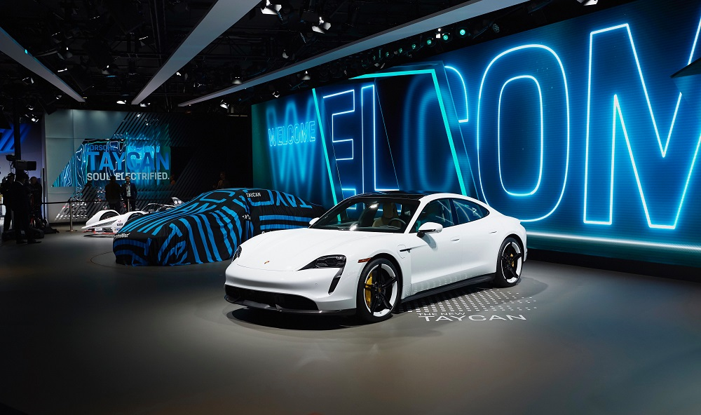 Porsche races into the future at AutoMobility LA