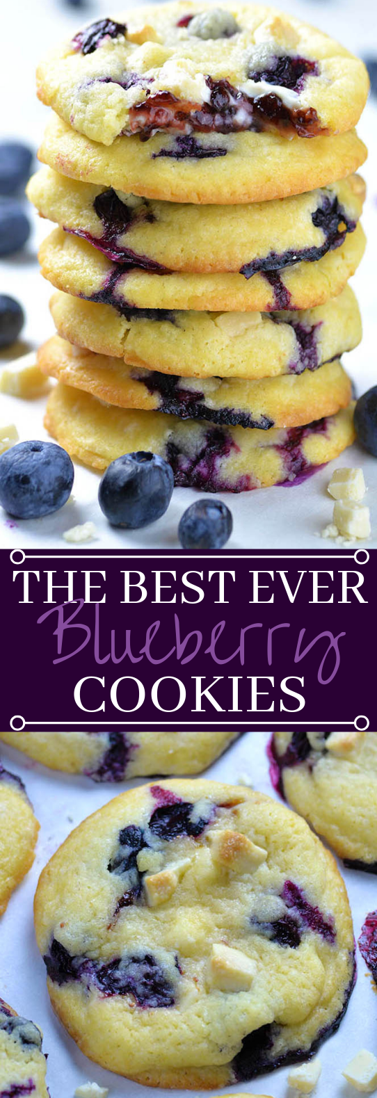 Best Ever Blueberry Cookies #cookies #recipes