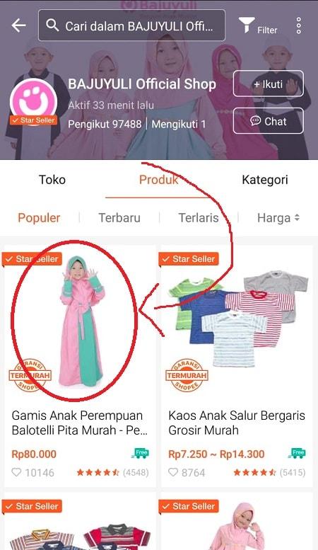 Cari produk di Shopee