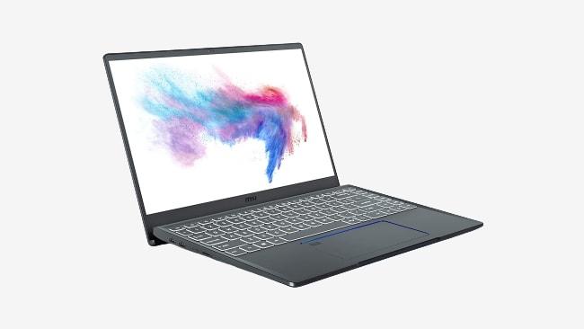 MSI Prestige 14 A10RB laptop.