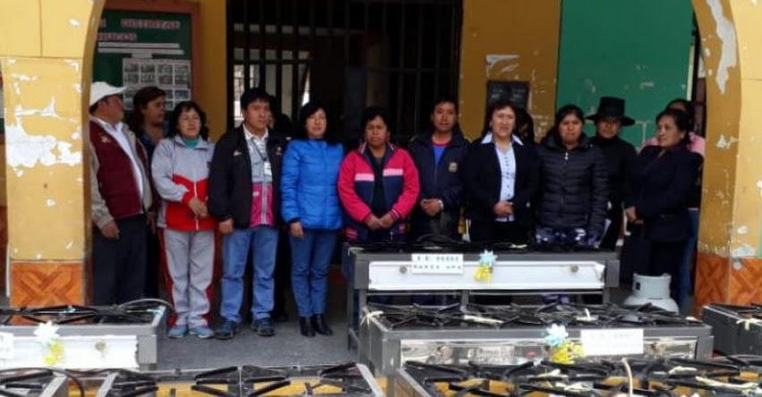 Trabajo articulado de Qali Warma y Municipalidad de Conchucos permite equipar 17 II.EE. con cocinas industriales GLP - www.qaliwarma.gob.pe