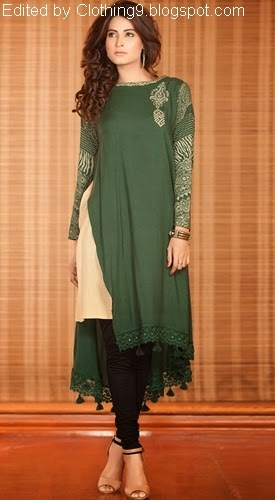 e0366f08d Exclusive Pakistani Casual Dresses 2015-16