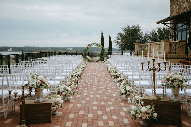 ceremony setup at bella collina