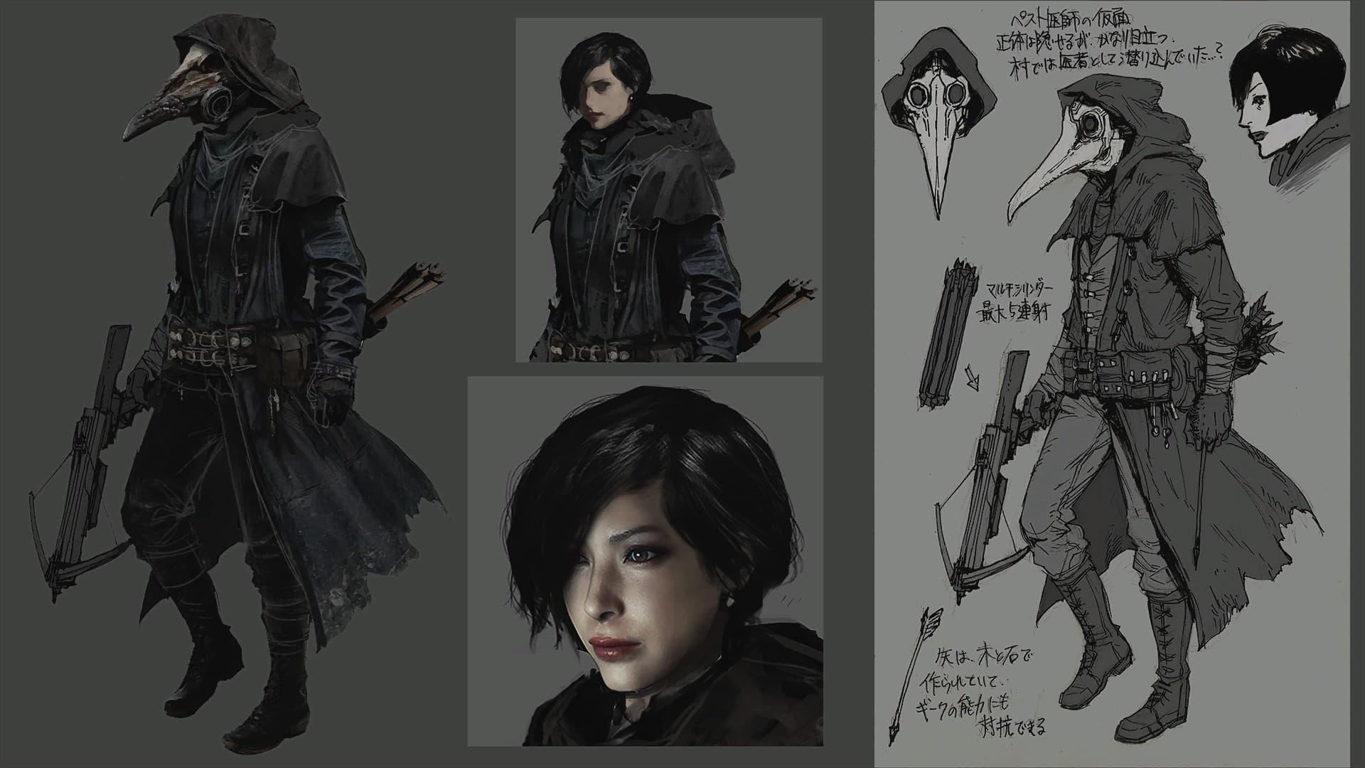 В дополнении Trauma Pack DLC к Resident Evil Village нашли Аду Вонг в костюме Чумного Доктора