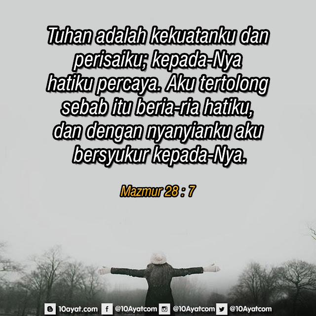 Mazmur 28 : 7