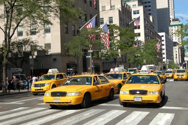 Imagin icónica de los taxis en Nueva York (Foto cedida por: Cristina Monsalvo, www.krisporelmundo.com)