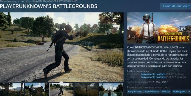Juegos parecidos a PlayerUnknown's Battlegrounds (PUBG)