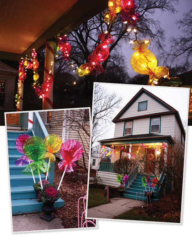 How To Decorate The Outside Of Your House For Christmas: Candyland. Sorta.