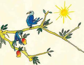"""Sākśī (sa, """"com""""; e akśa, """"centro da roda, olho"""") significa, """"observador"""", """"testemunha"""". Quando a roda gira, seu centro (akśa) permanece imóvel. O estado de Testemunha, Sākśī, expressa a capacidade de observar impassivelmente os eventos que fazem o mundo girar."""
