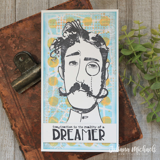 Dreamer Card by Juliana Michaels featuring Tim Holtz Stampers Anonymous Observations Stamp Set