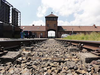 Train tracks in Birkenau (Photo courtesy of Alvin C.)