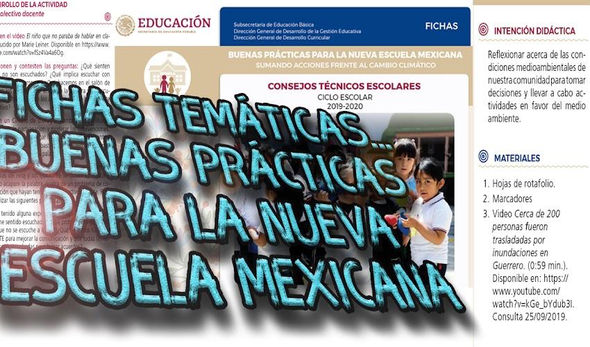 CTE | Fichas de líneas temáticas | Consejo Técnico Escolar | 2019 - 2020.
